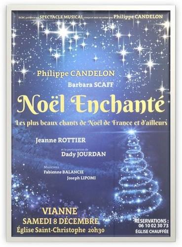 Affiche Concert de Noël Vianne