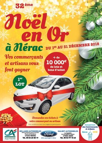 Affiche Noël en Or 2018