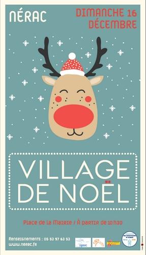 Affiche marché de Noël de Nérac
