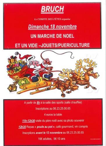 Affiche marché de noël Bruch