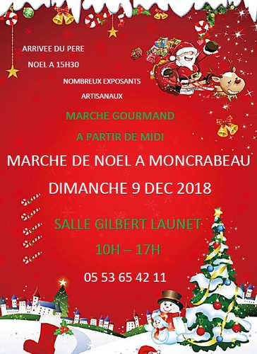 Affiche marché de noël Moncrabeau