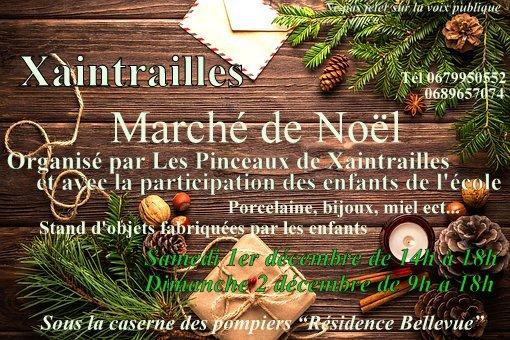 Affiche marché de noël Xaintrailles