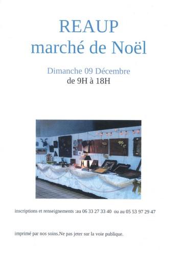 Affiche marché de noël de Réaup Lisse