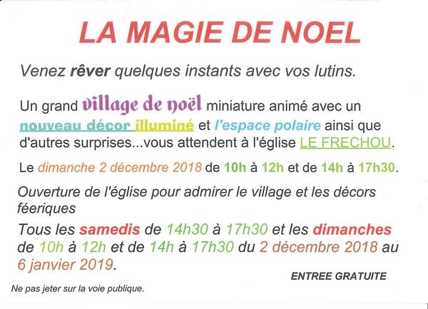 Magie de Noël eglise du Frechou