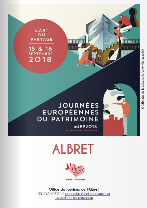 Programme des JEP 2018 en Albret