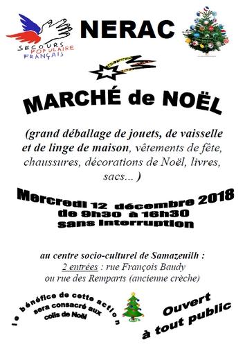 Marché de noël du secours populaire Nérac