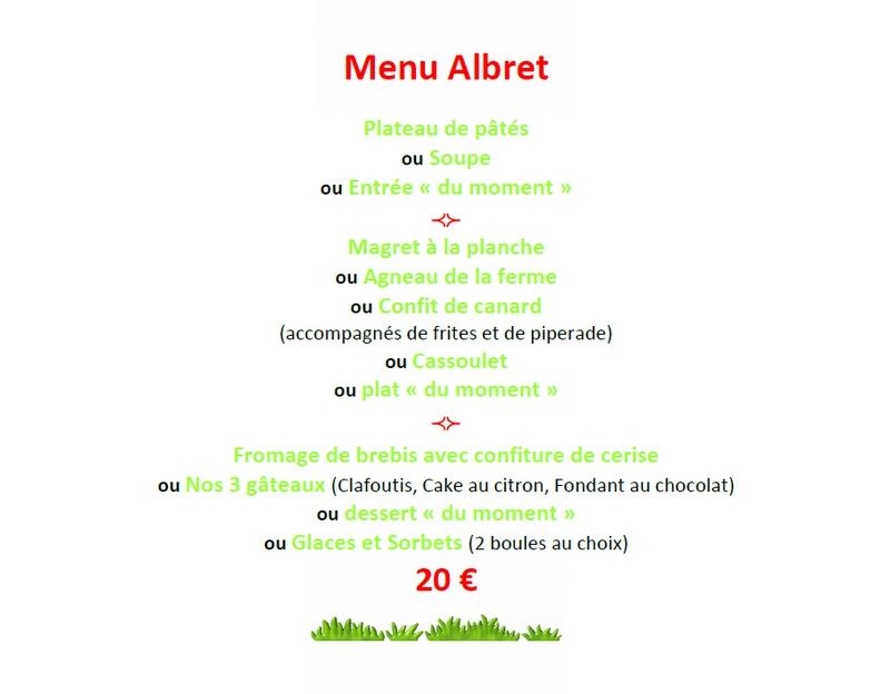 Menu Albret Contes dAlbret