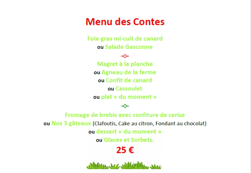 Menu des Contes Contes dAlbret