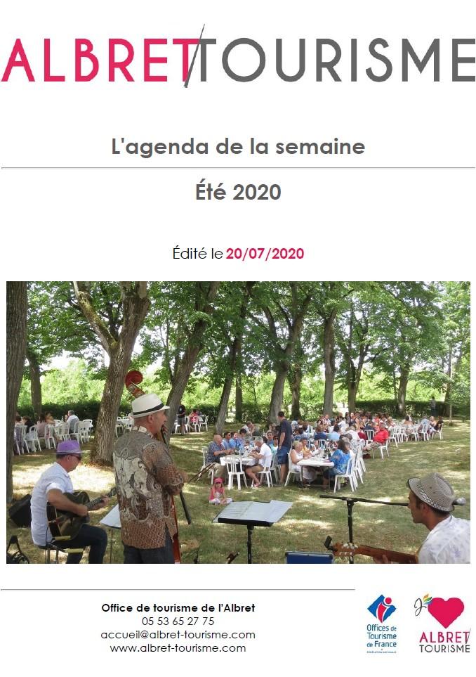 Agenda Newsletter 20 juillet