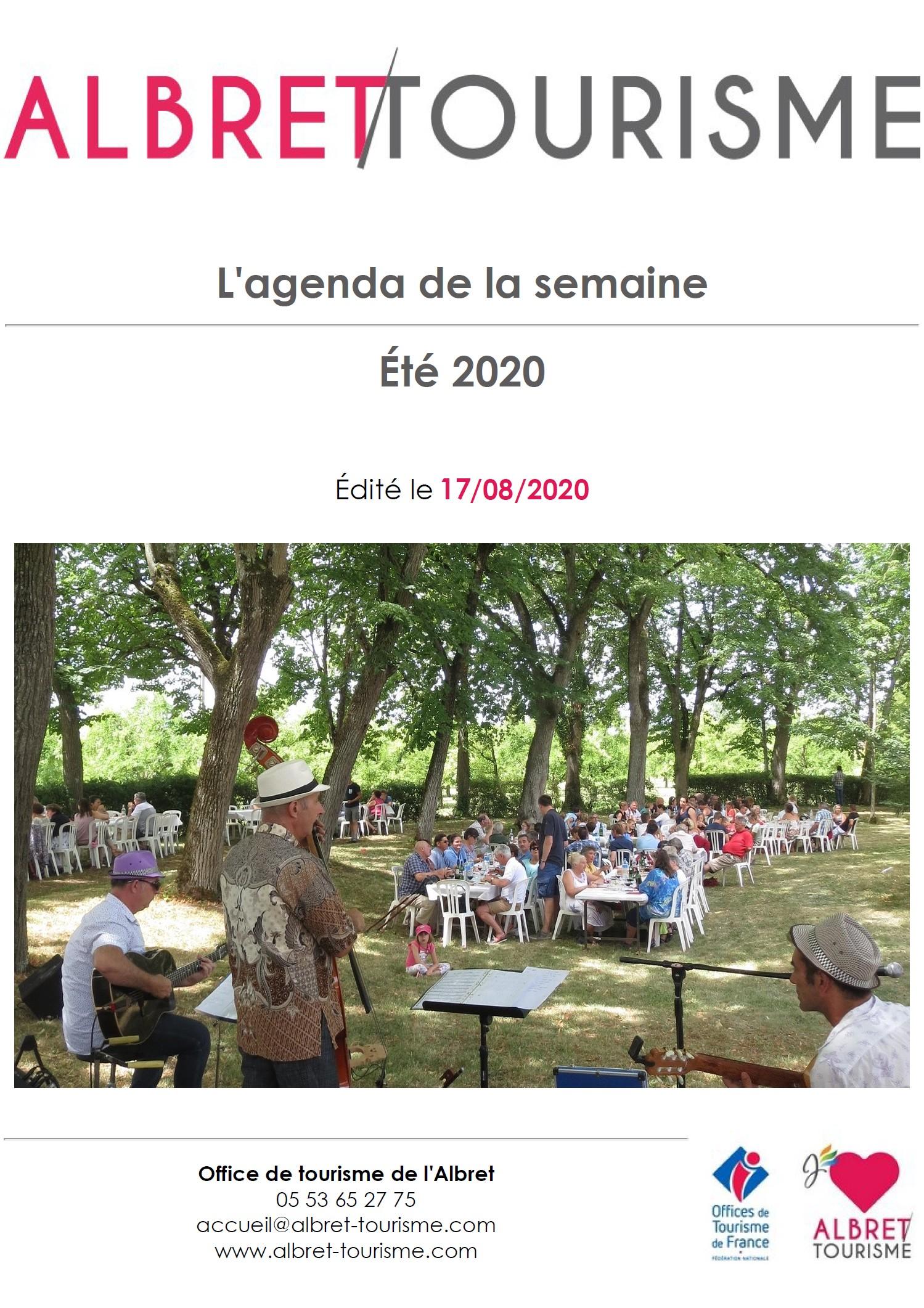 Agenda Albret Tourisme semaine 17 aout