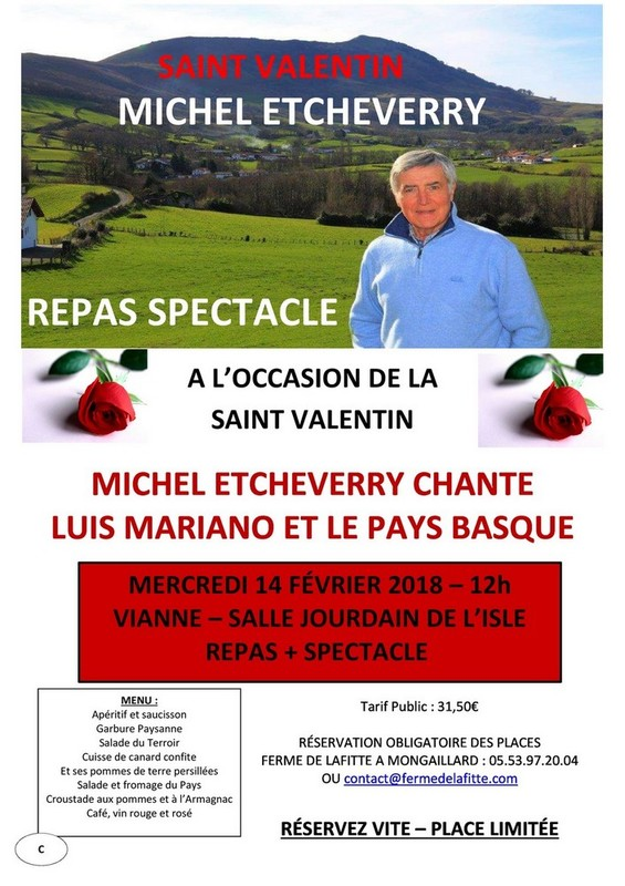 Michel Etcheverry Saint Valentin 2018