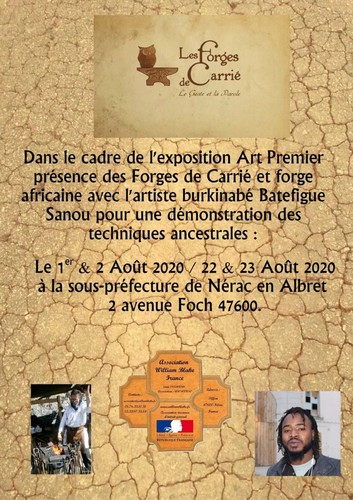 Affiche Démonstration Forges de Carrié Nerac 2020