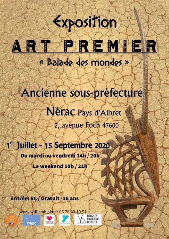 Affiche exposition art premier Nérac 2020