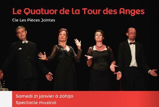 La Tour Des Anges spectacle musicial : le quatuor de la tour des anges - mezin - fêtes