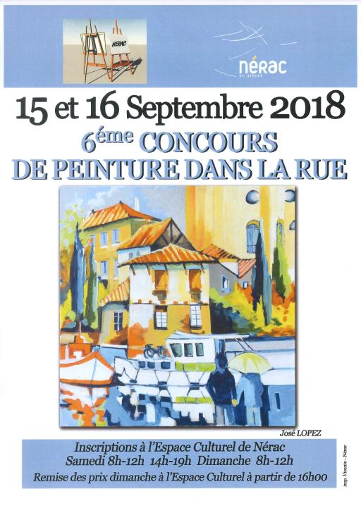 6ème concours de peinture dans les rues de Nérac - NERAC ...